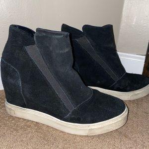 STEVE MADDEN black sneaker booties